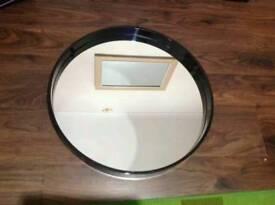 Black Round Mirror 65CM