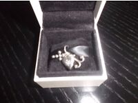 Pandora Faith hope & charity charm (heart has small stone inset )