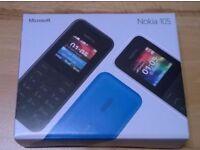 Nokia 105 unlocked any network ***BRANDNEW IN BOX***100% ORIGINAL PHONE NOT REFURBISHED***