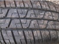 ford focus/mondeo/escort one ford 4 stud steel wheel c/w as new tread tyre 195 x 60 x 15 tyre , 8mm