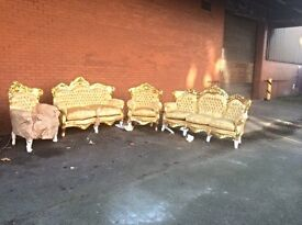 Fantastic new French carved gold furnishings massive sale on now