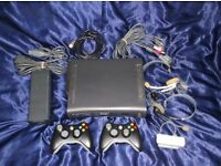 Xbox 360 Elite, 120GB HD, 2 Wireless Controllers, Wifi Adapter, 2 Headsets, 27 Games , HDMI+AV Cable