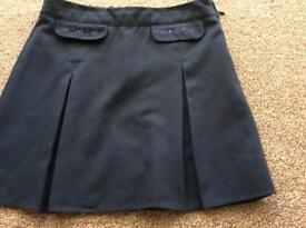 Marks & Spencer's Navy blue school skirt, age 7-8