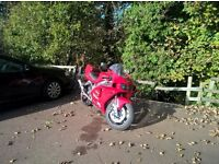 kawasaki zx7r nearly new michelin 2ct tyres new timing chain,tensioner,guide,head gasket.