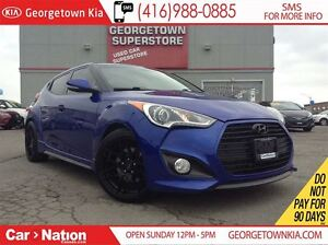 2013 Hyundai Veloster TURBO| NAVI| LEATHER| ROOF| BLACK WHEELS