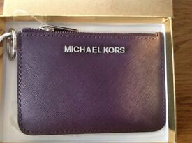 Michael Kors Coin & Card Purse - New and Boxed - Damson/Purple