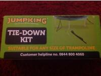 Jumpking tie down kit for any size trampolines brand new
