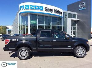 2013 Ford F-150 Platinum, Navi, Sunroof, 4x4, Crew, One Owner