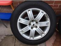 """Range Land Rover 19"""" alloy wheels and hankook matching tyres - alloys"""