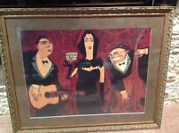 Professionally Framed Musicians Picture