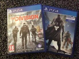 Division and destiny PS4