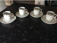 MINIATURE COFFEE CUPS AND SAUCERS
