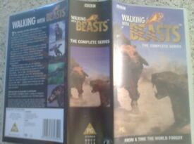 Walking with Beasts. B.B.C. 2 Videos. Boxed.