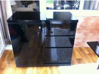 Next black gloss small sideboard