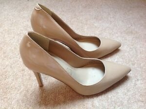 MARKS AND SPENCER AUTOGRAPH LEATHER NUDE HIGH HEELS SHOES UK SIZE 4.5 NEW