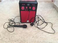 Karaoke machine and plays discs