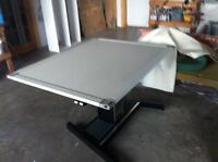 LARGE DRAWING BOARD, ELECTRIC, ADJUSTABLE, MULTI POSITION