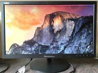 23 Inch Lenovo WLED LT2323pwA Display Port (HDMI) DVI VGA HD computer screen monitor