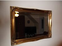 gold edged bevelled mirror