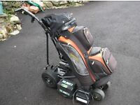 Powakaddy Electric Golf Trolley complete with Powakaddy Cart Bag