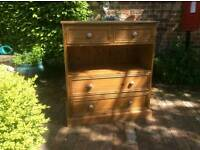 Rich Golden Brown Solid Pine Rustic, Antique Chest of Drawers in Great Condition