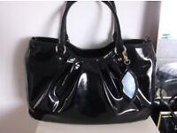Lulu Handbag NEW Black Patent