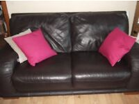 FOR SALE 2+1+1 LEATHER SUITE OF FURNITURE SOFA