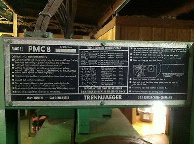 Trennjaeger Cold Saw Pmc8 Heavy Duty
