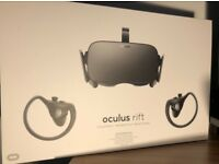 Oculus Rift (CV1) VR Headset with Controllers and Sensors (Boxed, like new!)