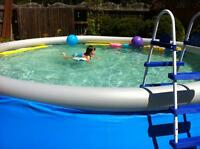 """18' round 48"""" high - Soft Sided pool - used 1 month only!"""