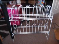 WHITE SHOE RACK, FREE TO COLLECTOR
