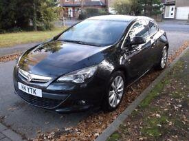 Vauxhall Astra GTC 1.4T SRI, Black, Petrol, 3dr
