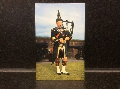 Pipe Major Laurie Georgeson, at Stirling Castle Postcard