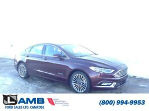 2018 Ford Fusion Titanium Hybrid FWD with Moonroof, Navigation a