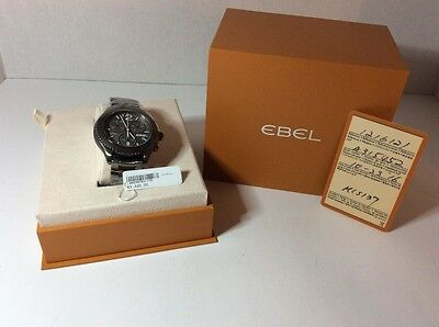 Ebel X-1 Chronograph Grey Dial Grey PVD Steel Mens Watch 1216121
