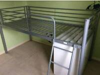 Mid sleeper single bed with ladder.