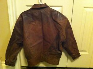 Women's Size Small Brown Genuine Leather Coat-Spring/Summer/Fall Strathcona County Edmonton Area image 3
