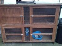 Rabbit hutch. (two storey)
