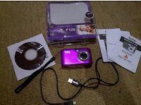 Vivitar ViviCam F128 14.1 megapixel purple digital camera with SD card