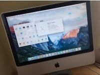 Apple Imac 20 inch, 2gb Ram, 250gb excellent condition, MB323LLA