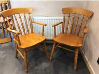 2x carver farmhouse style dining chairs £30 each or two for £50