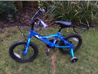 "Boys Bumper GOAL 16"" bike removable stabilisers ages 4-7 excellent condition."