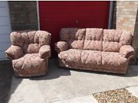 3 SEATER SOFA + ARMCHAIR