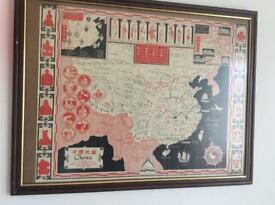 Antique interesting china map .