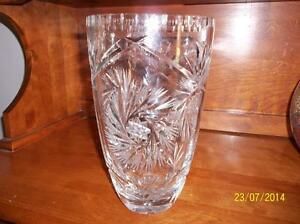 NEW PRICE-Antique-LEAD CRYSTAL ETCHED VASE Kitchener / Waterloo Kitchener Area image 1