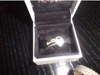 Pandora heart lock and gold key charm