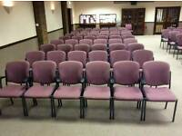 10 x Chair Seat Conference, waiting room, Office, Stackable, Connecting, Arms JOB LOT 100 available