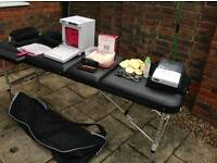 Portable massage table, towel warmer and more, package