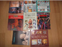 Collection of art and craft books in good condition