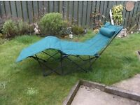 Garden sun lounger in very good condition carry bag included, used once